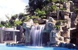 私人别墅区假山瀑布小品